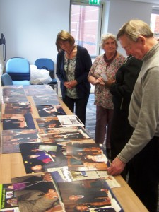 An array of photographs chronicling the journey of the book so far.