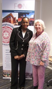 Janet Brown with Elizabeth Robinson, Vice Chairman, FONA
